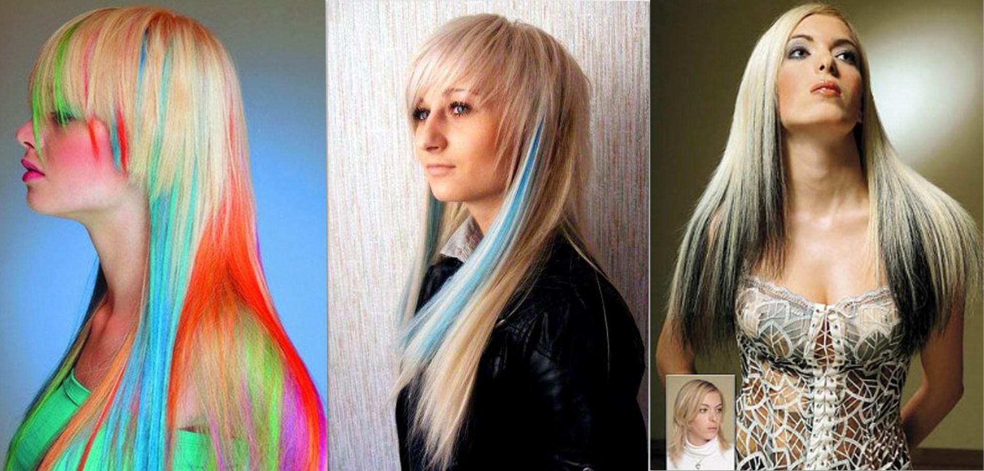 Искусственные волосы меняющие цвет