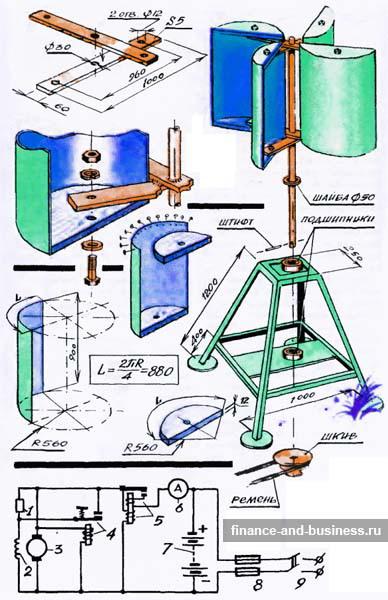 Ветряной генератор ветрогенератор схема Схемы соединений