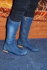 джинсы окрашивание