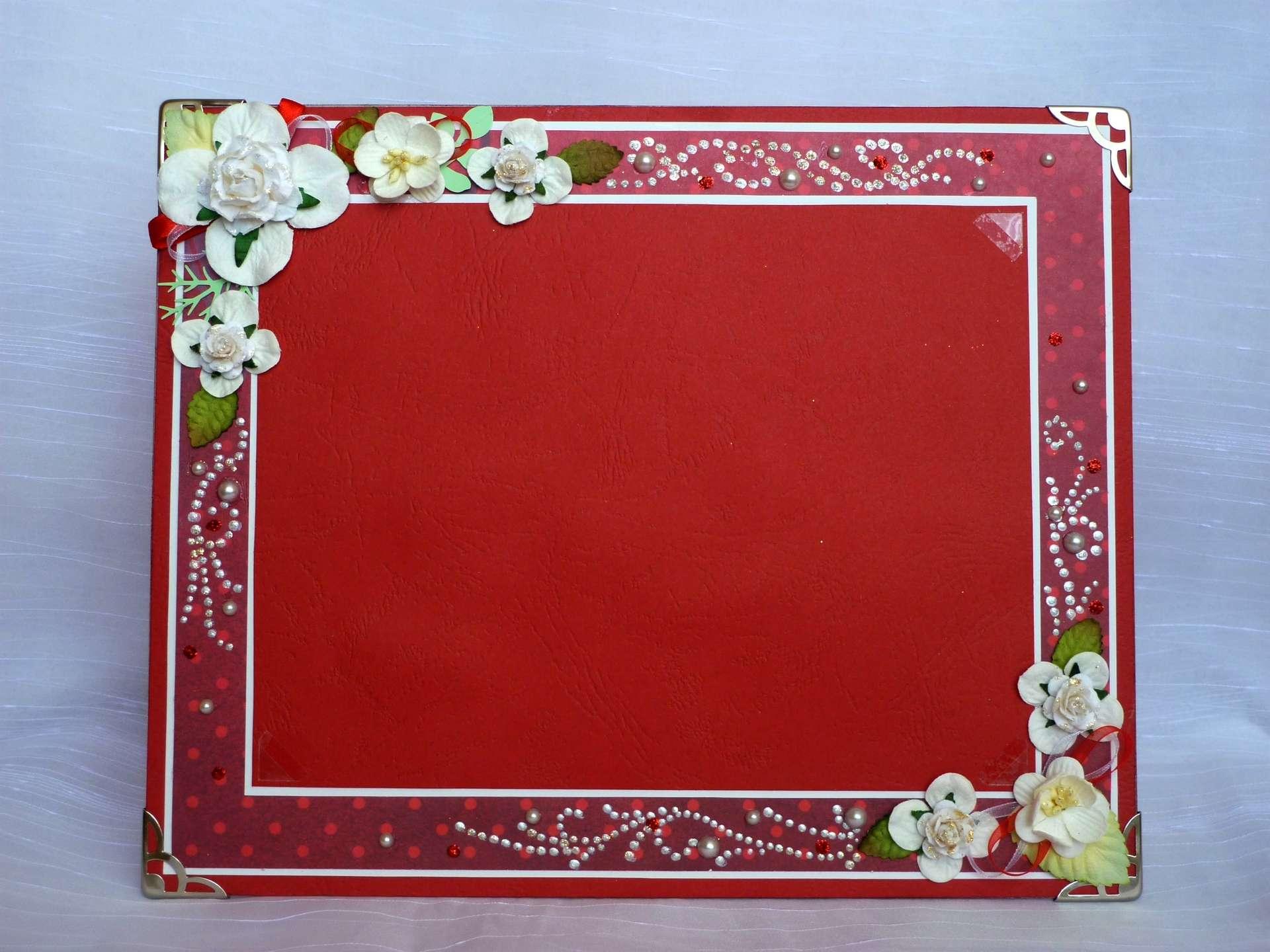 Как украсить открытку по краям