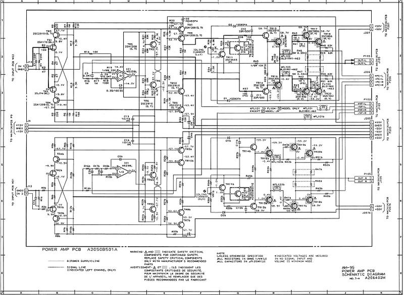 с выхода AD 843 идёт в УМ (схема ниже) где штатный регулятор тембра, баланса, громкости отключен, в замен установлен.