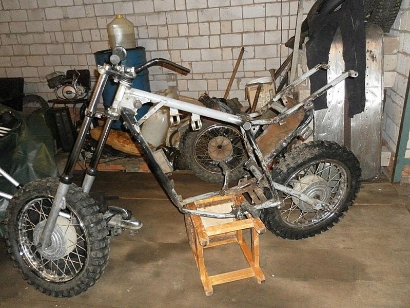 Как сделать кроссовый мотоцикл из мопеда альфа своими руками
