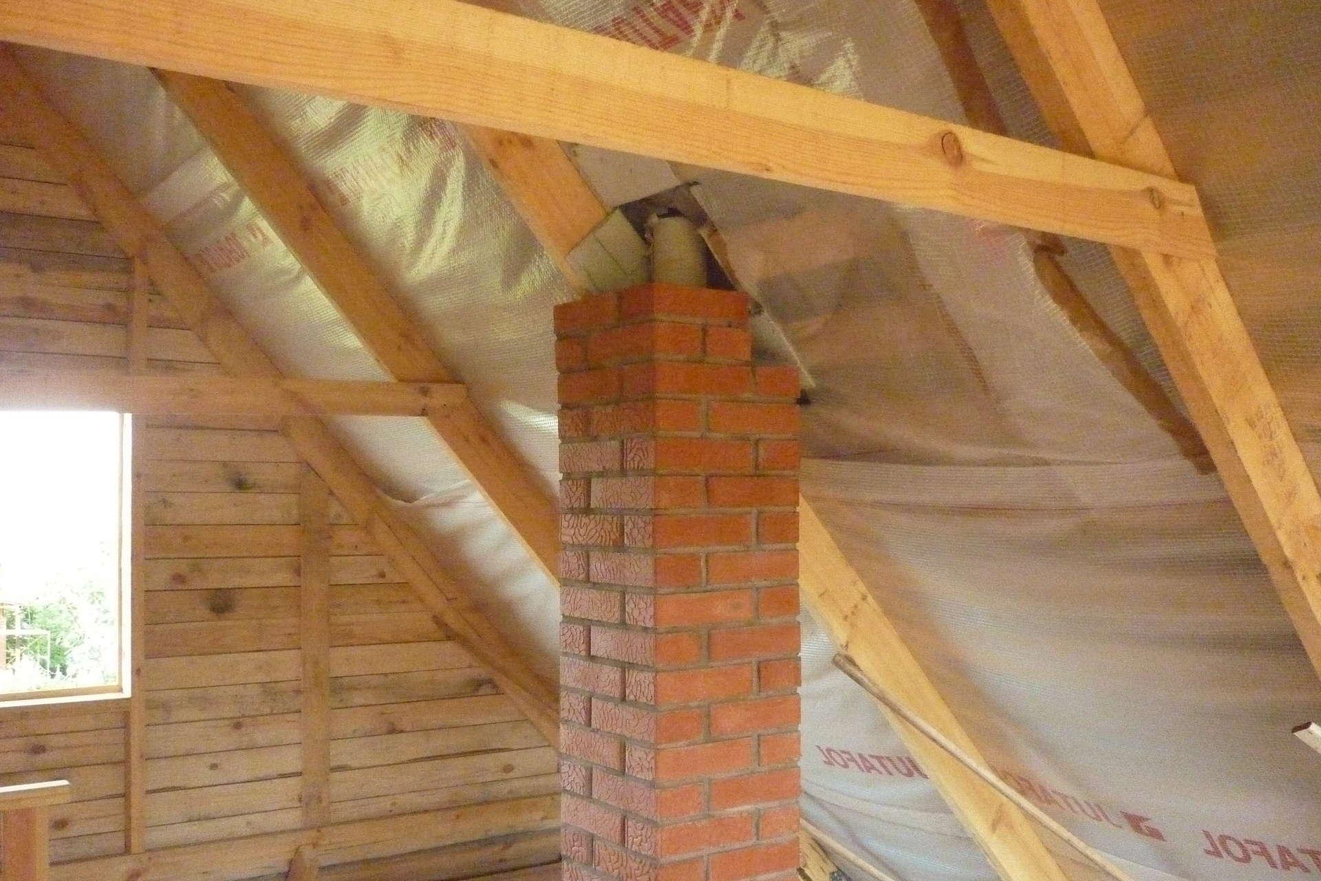 Как сделать крышу на бане из кирпича