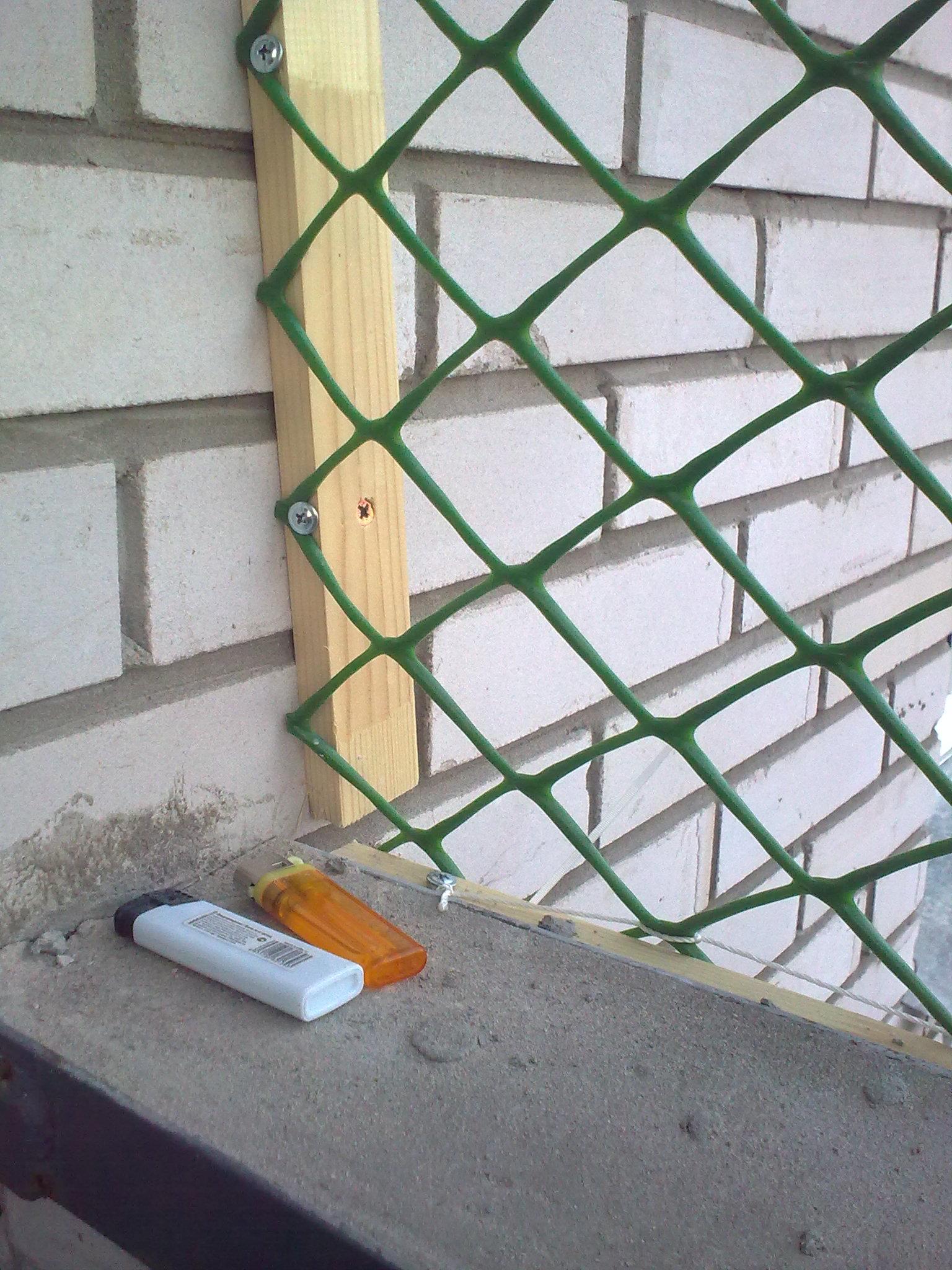 Сетка на балкон своими руками 90