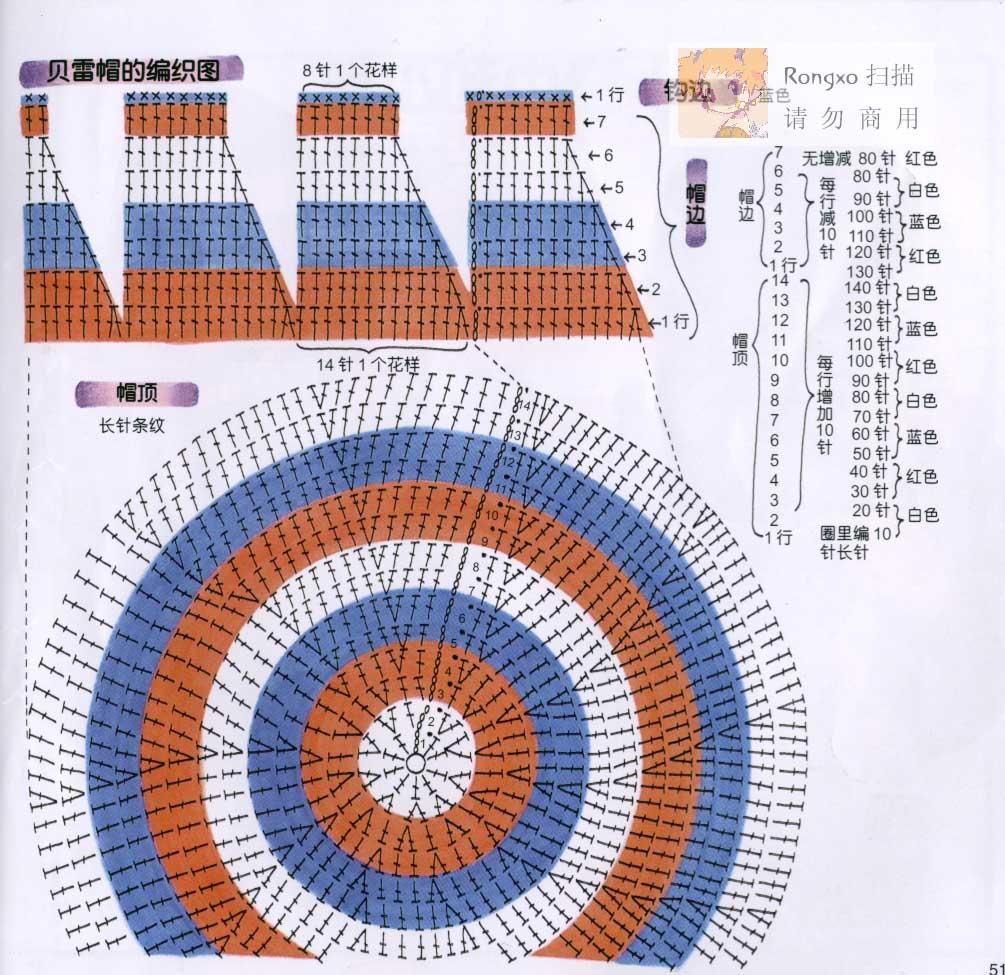 Шапка растамана крючком схема