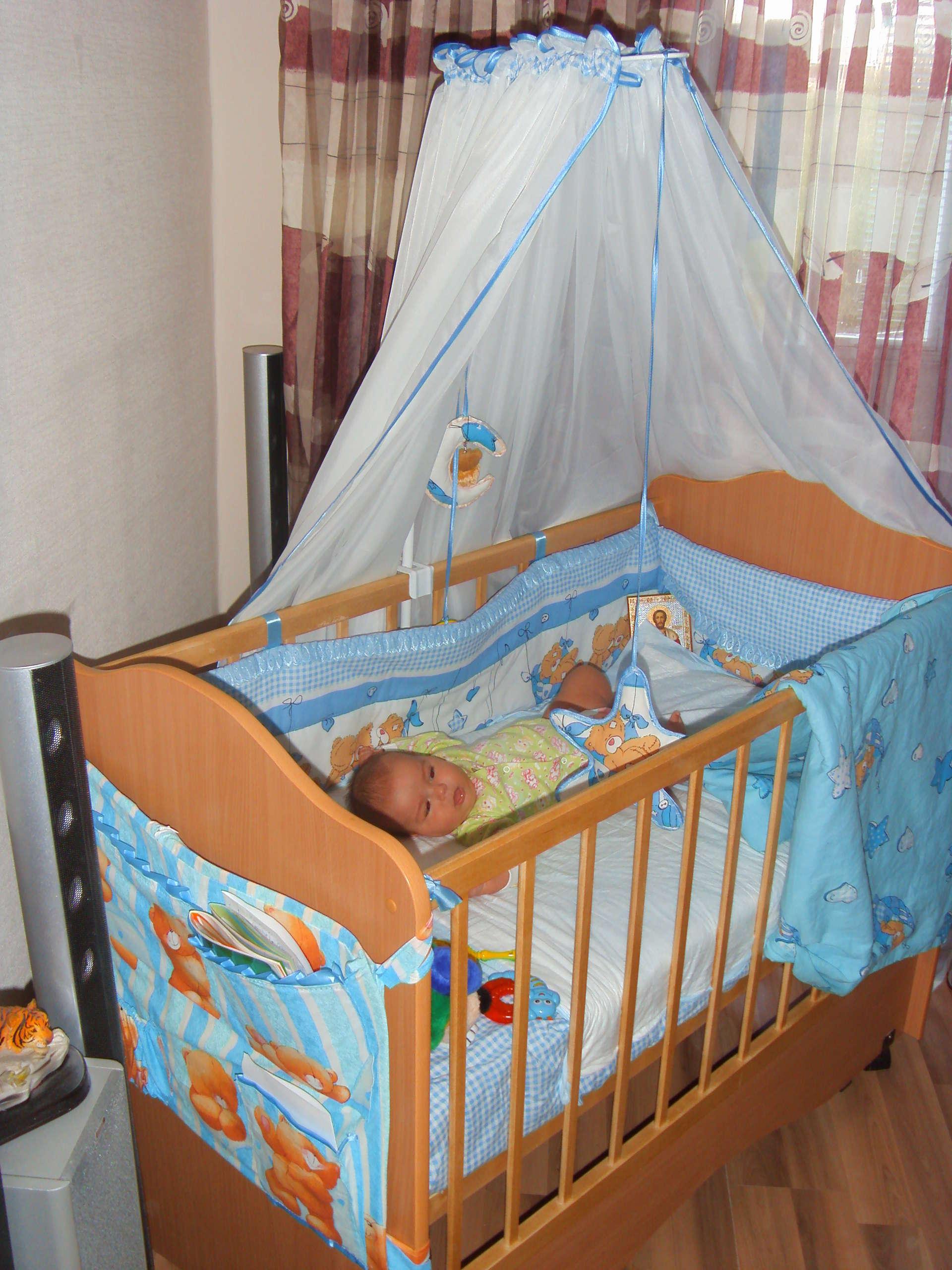 Постельное в кроватку для новорожденного своими руками 194