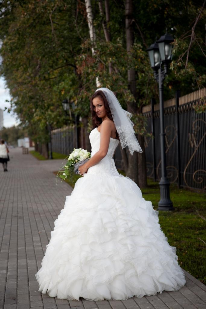 платье на выпускной короткое со шлейфом фото