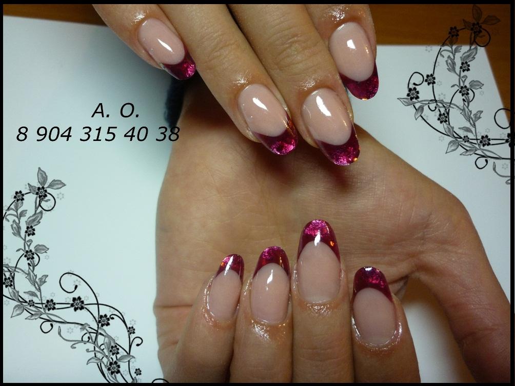Витражный гель для ногтей дизайн