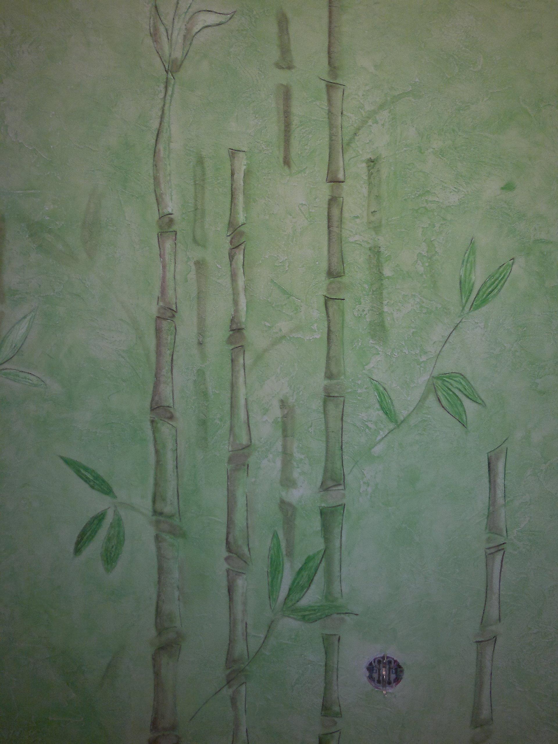 Штукатурка под бамбук