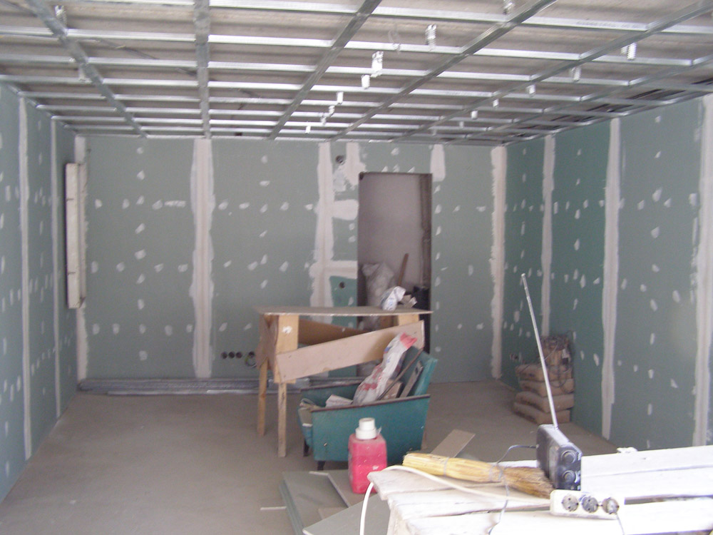 Гипсокартона монтаж стен своими руками фото