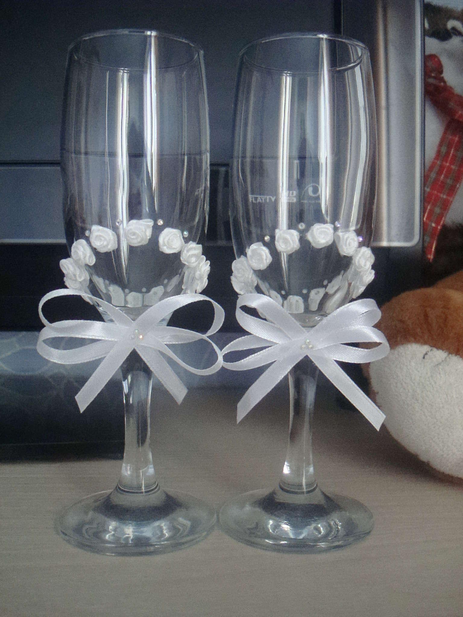 Как самим сделать свадебные бокалы своими руками