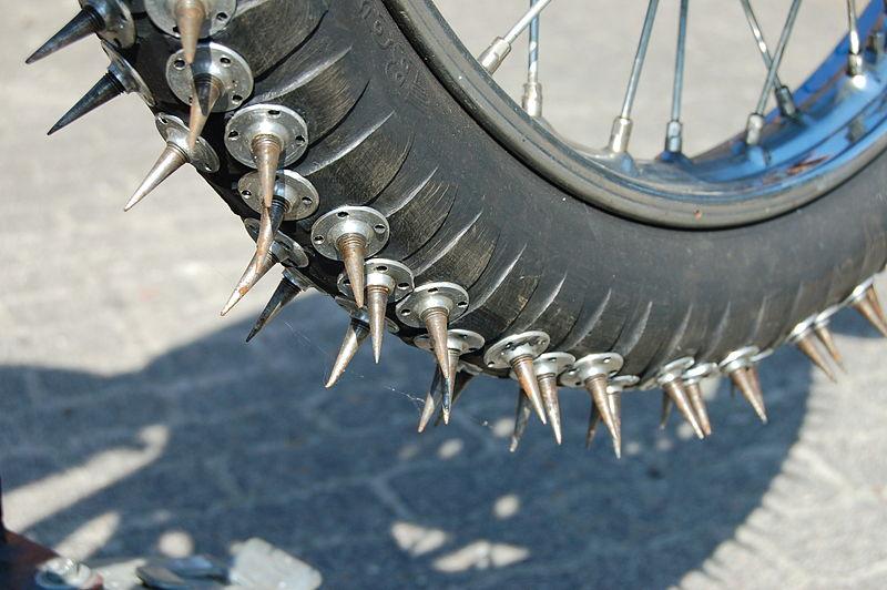 Как сделать своими руками на велосипед шипы