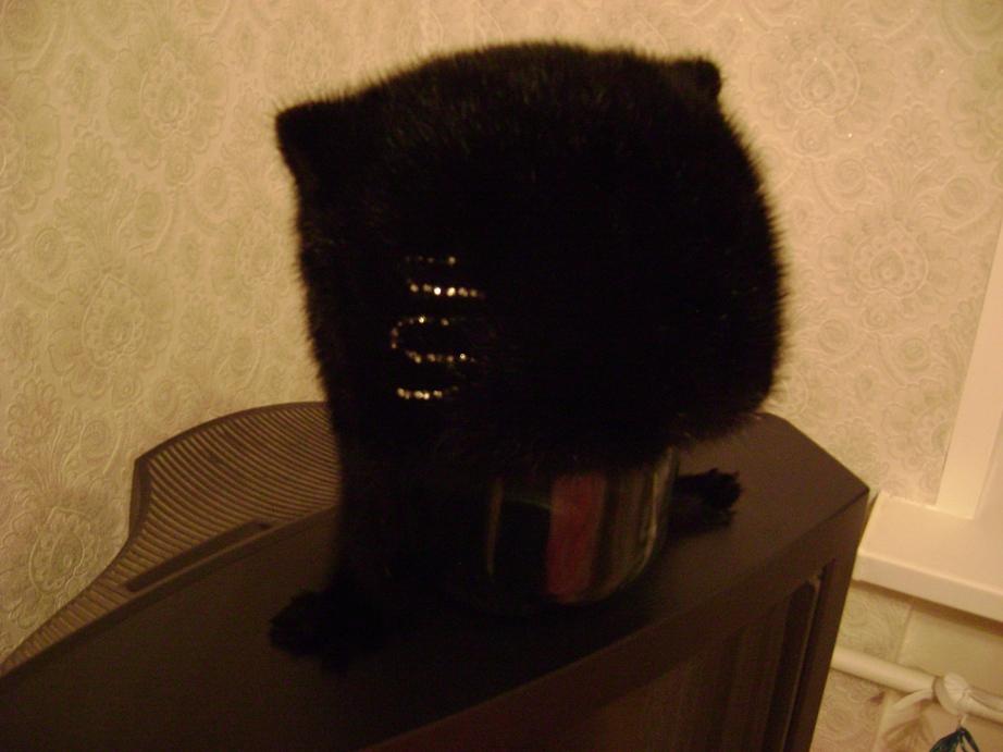 Модель Кошка.  Цвет черный, на боку стразы, размер 58 (можно на...