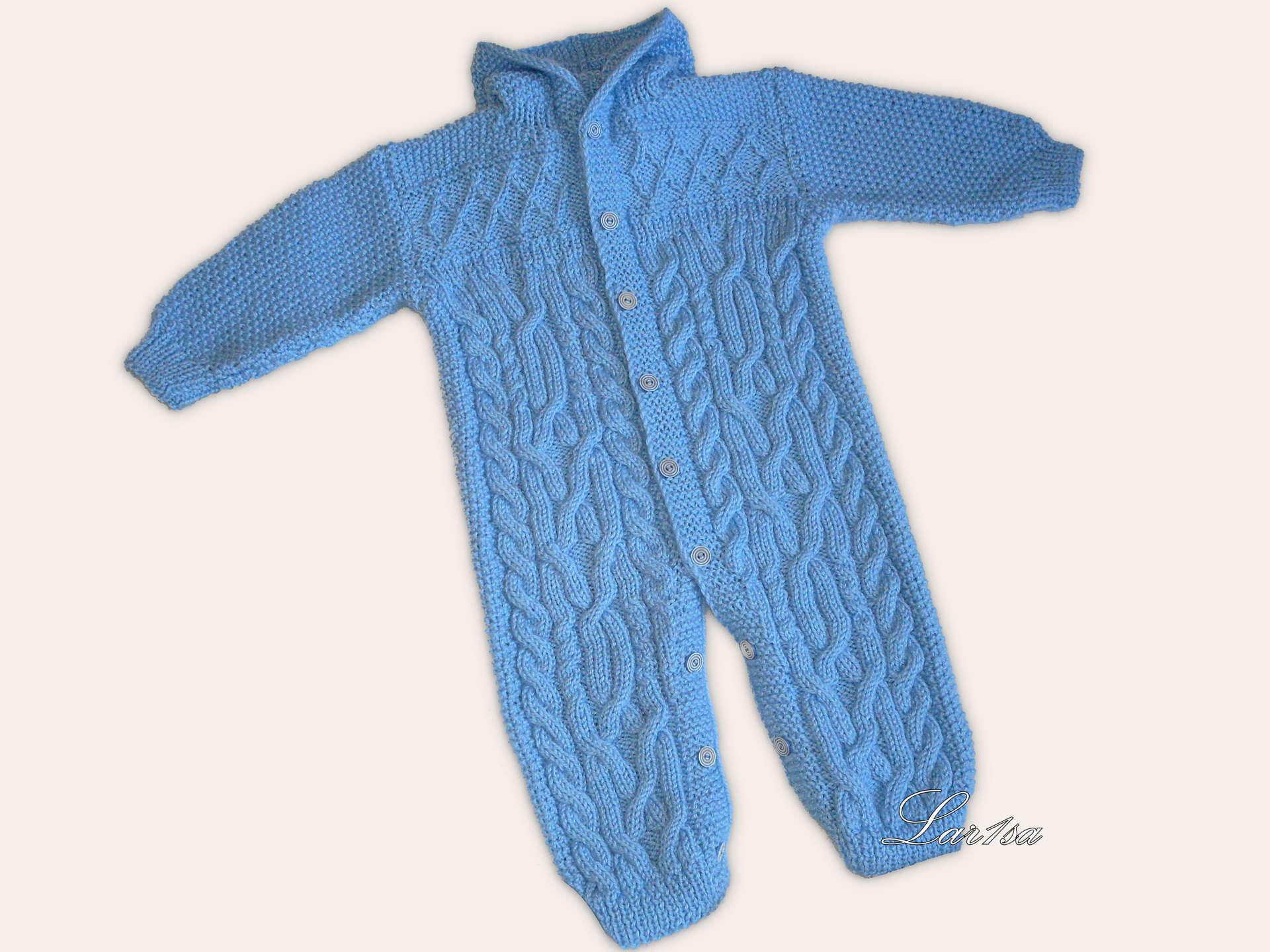 Комбинезоны вязание на спицах для мал