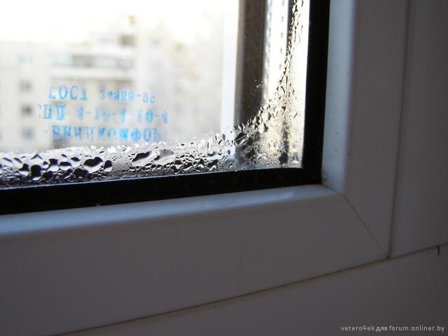 Почему потеют окна на балконе зимой..