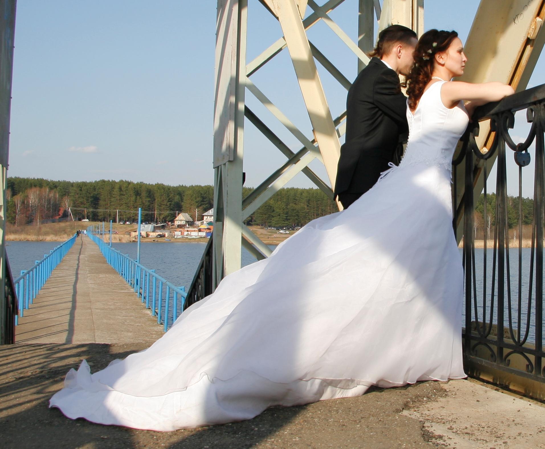 Как сделать шлейф своими руками на свадебное платье 2