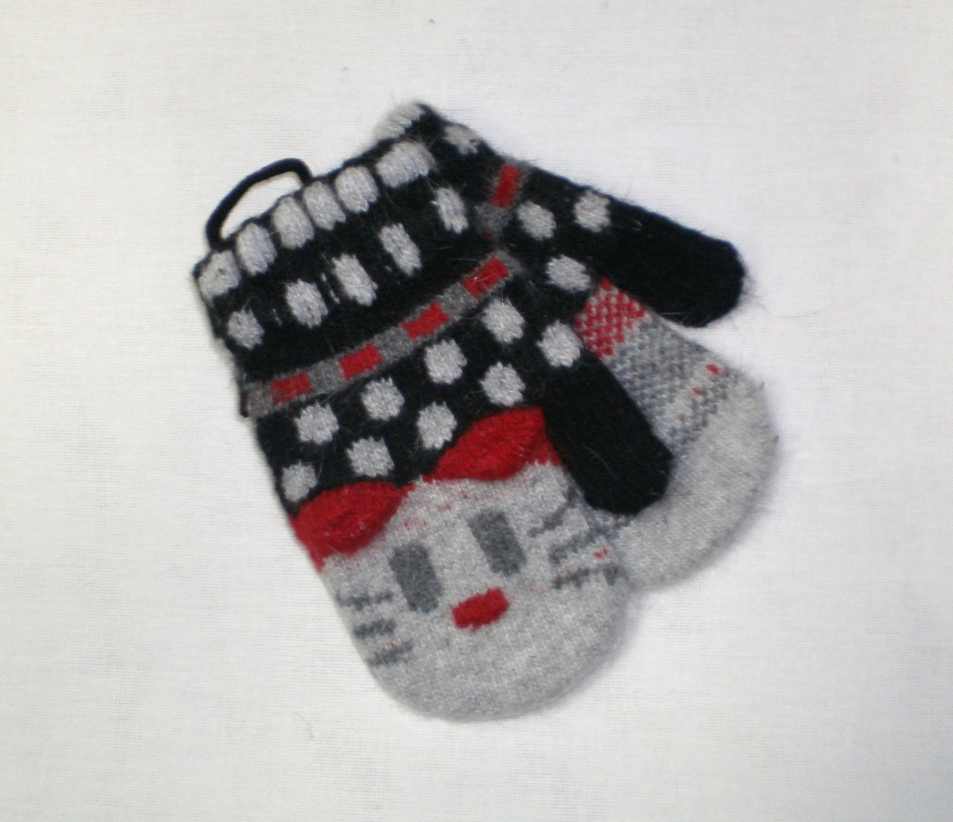 Вязание варежек для малышей 3