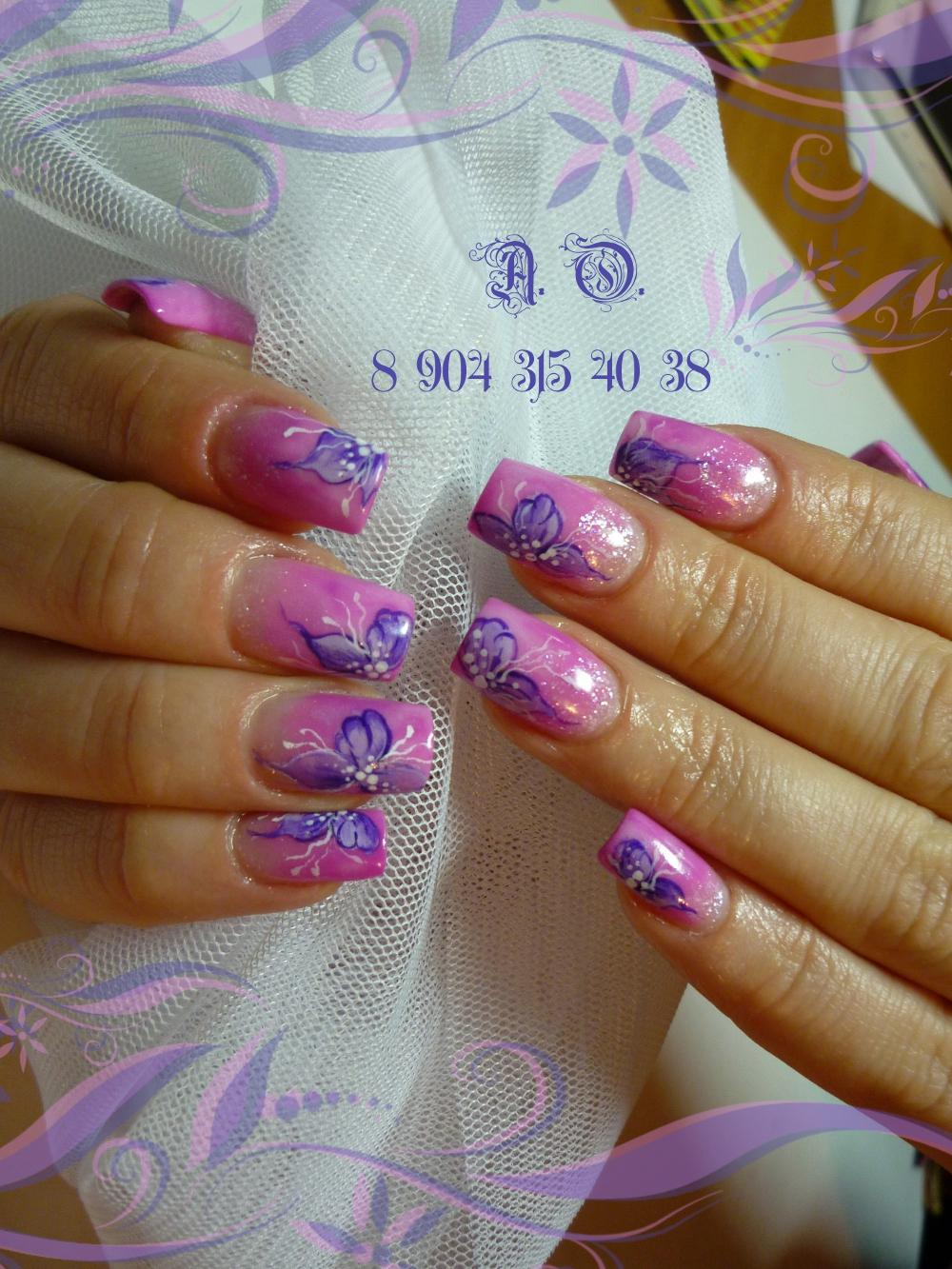 Акриловое покрытие для ногтей фото
