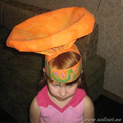 Как сделать шапочку грибочка своими руками видео