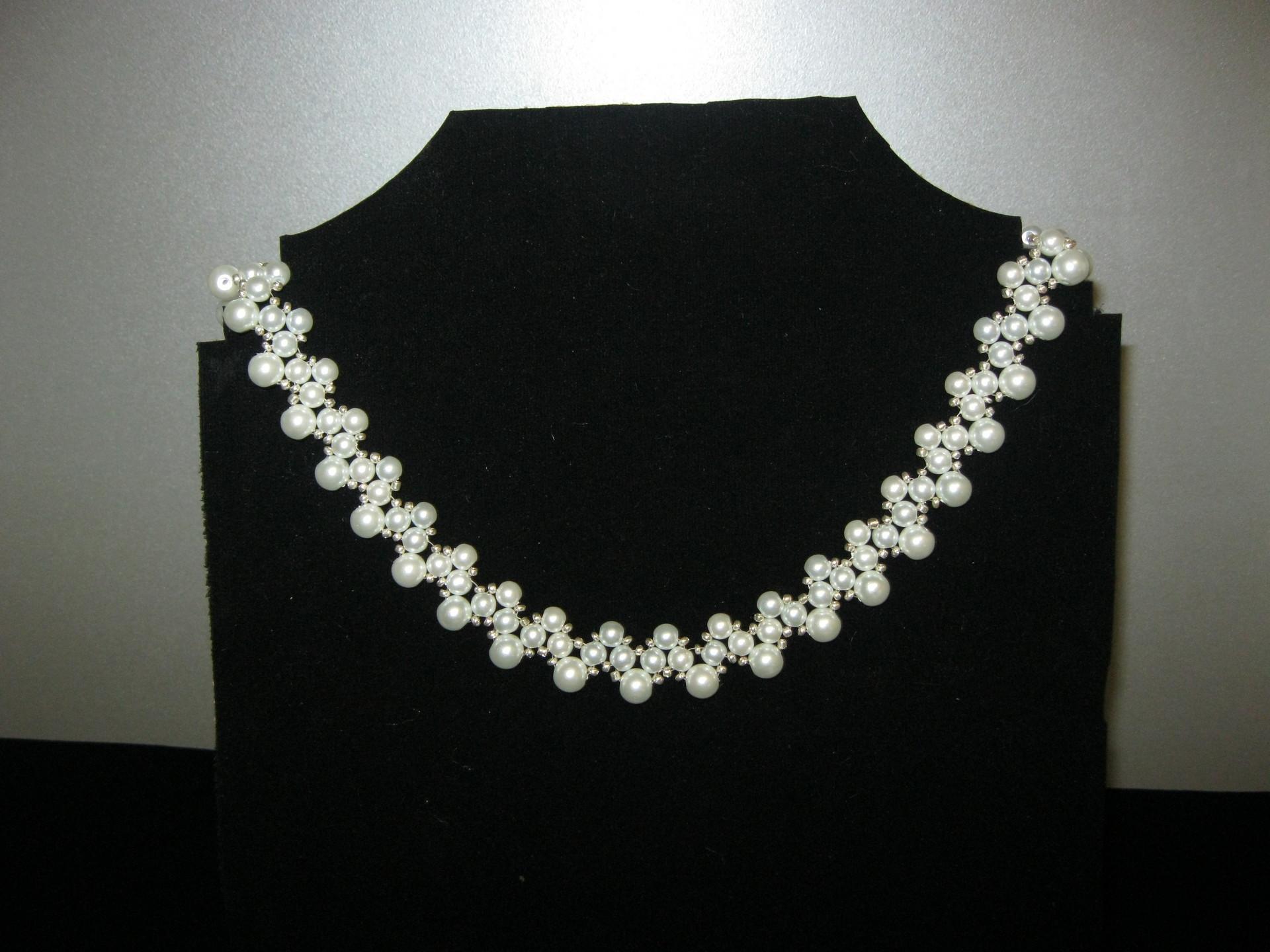 Украшение Бисероплетение Ожерелье Королева Бисер Бусины.