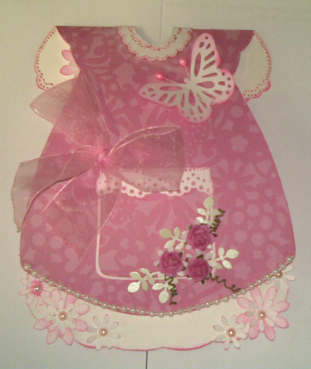 Открытка для девочки платье 44