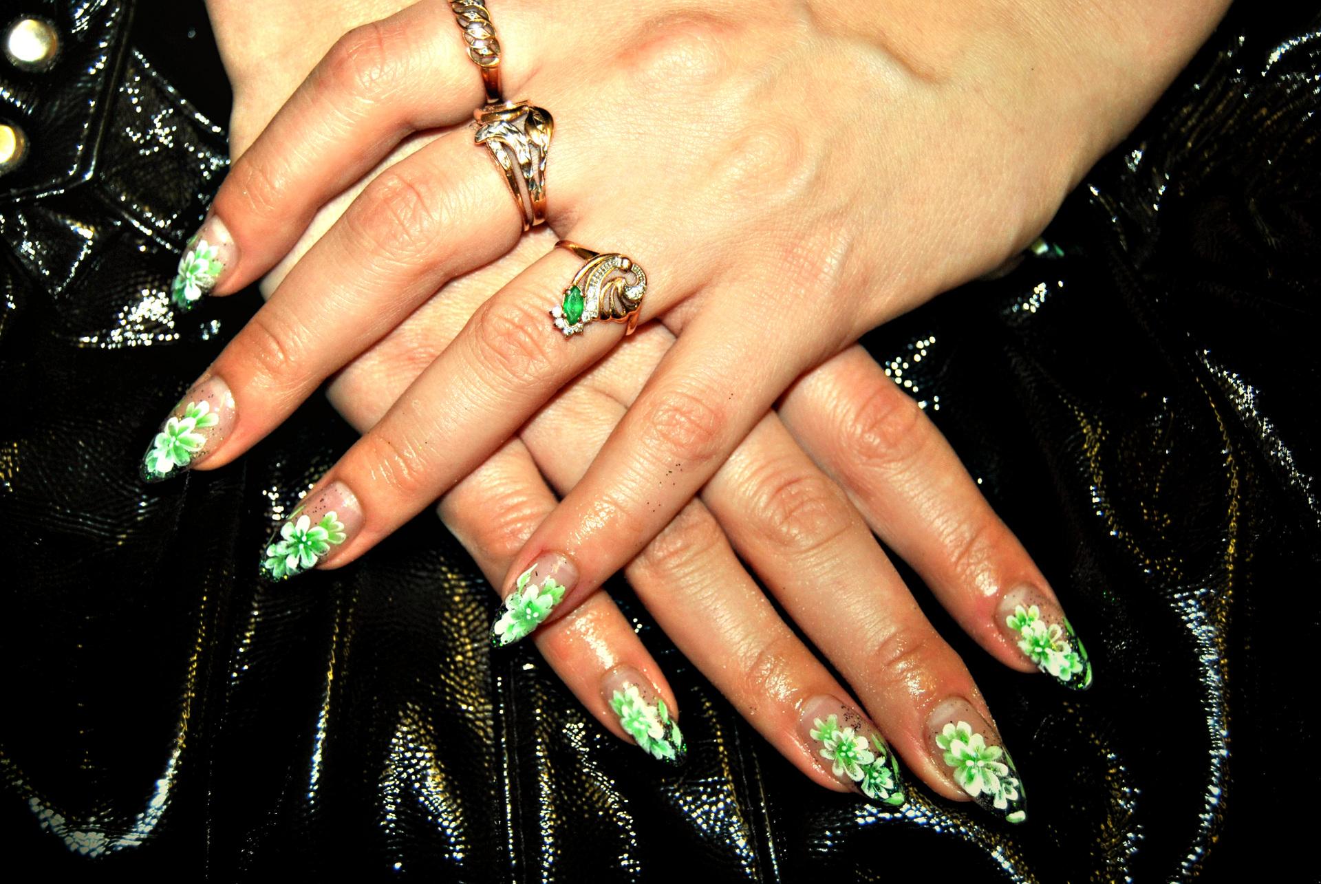 Нарощенные ногти камни фото