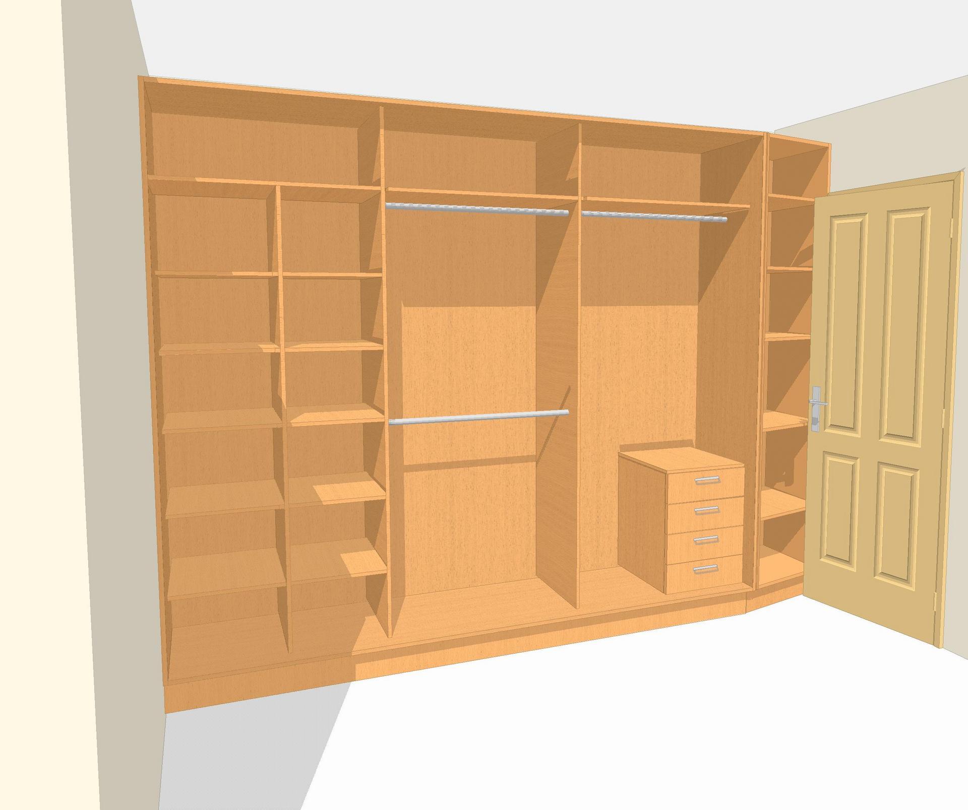 Наполнение двери для шкафа-купе своими руками