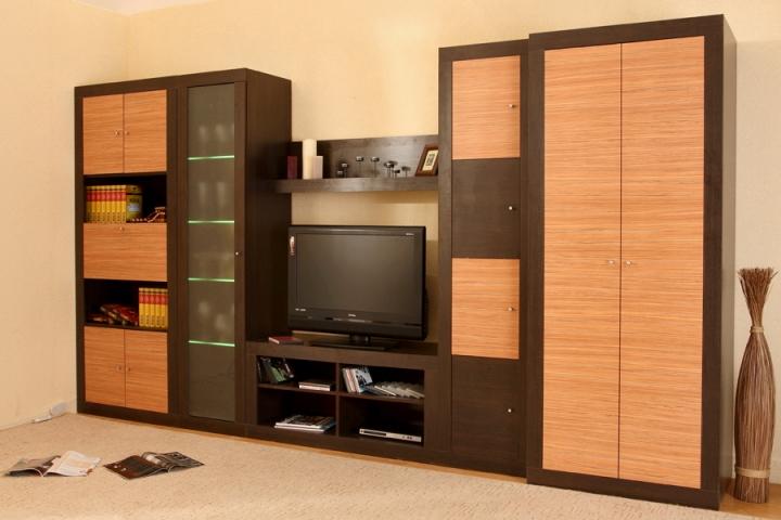 Стенка для гостиной саванна-2 от мебелиум - мебельный портал.