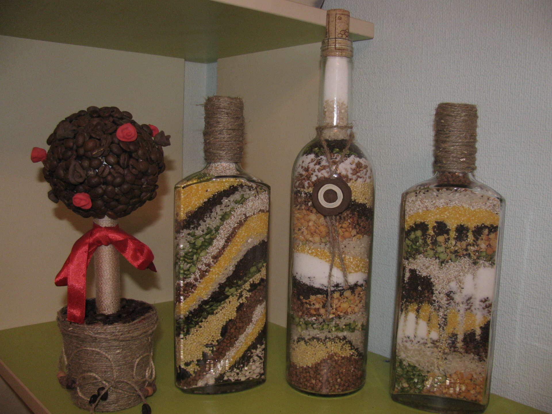 Красивые бутылки для дома