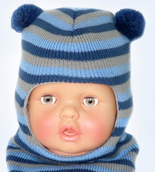 Детский шлем для мальчика связать