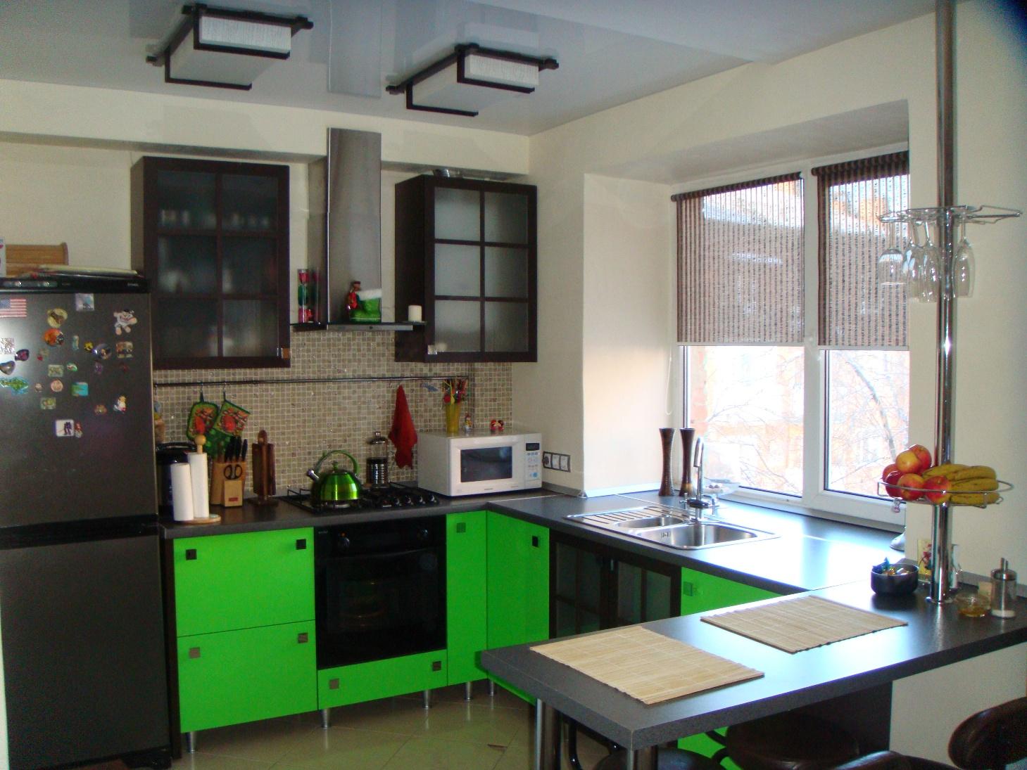Ремонт кухни 9 кв м фото с балконом.