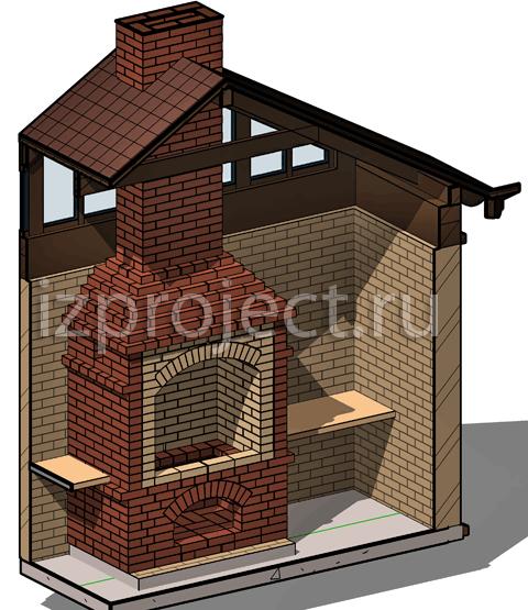 Фото мангалов из кирпича с крышей своими руками фото 958