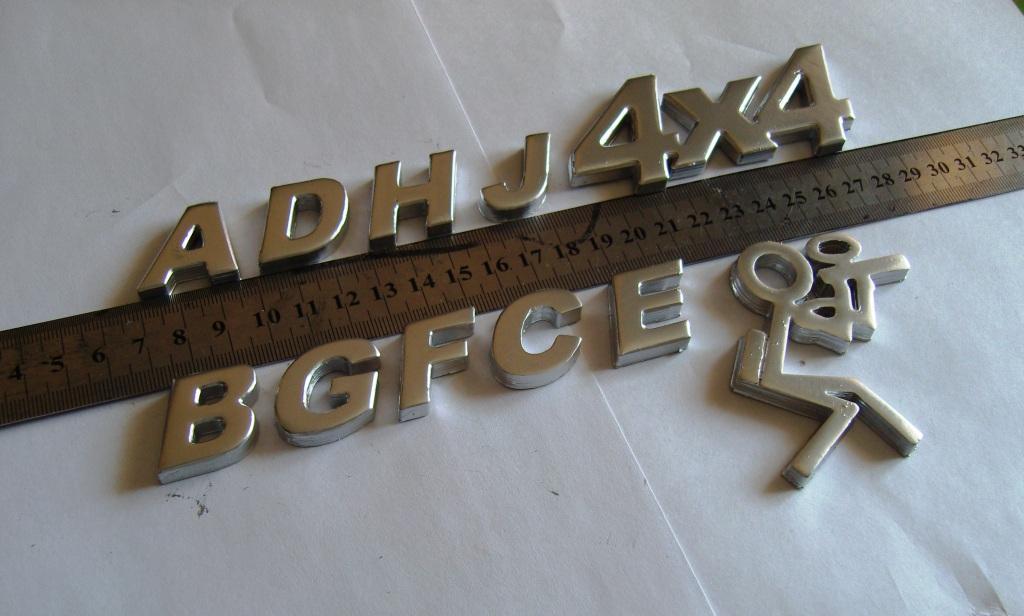 Шильдики буквы на авто - shildy.ru