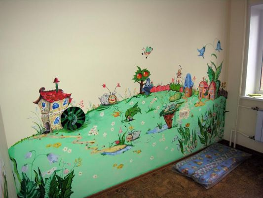 Оформление стены детскими фото