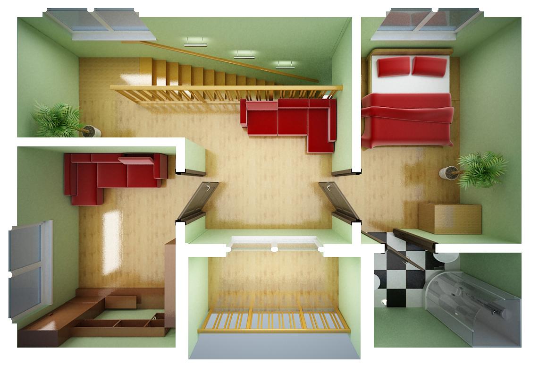 Дизайн маленьких домов внутри планировка