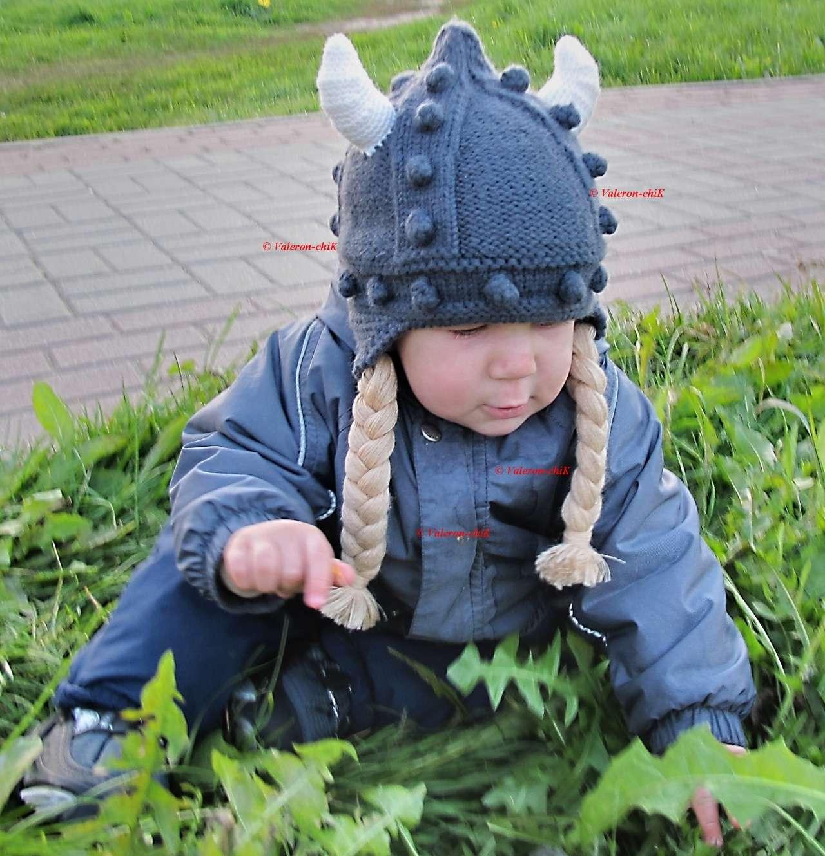 Схема вязания шлема викингов