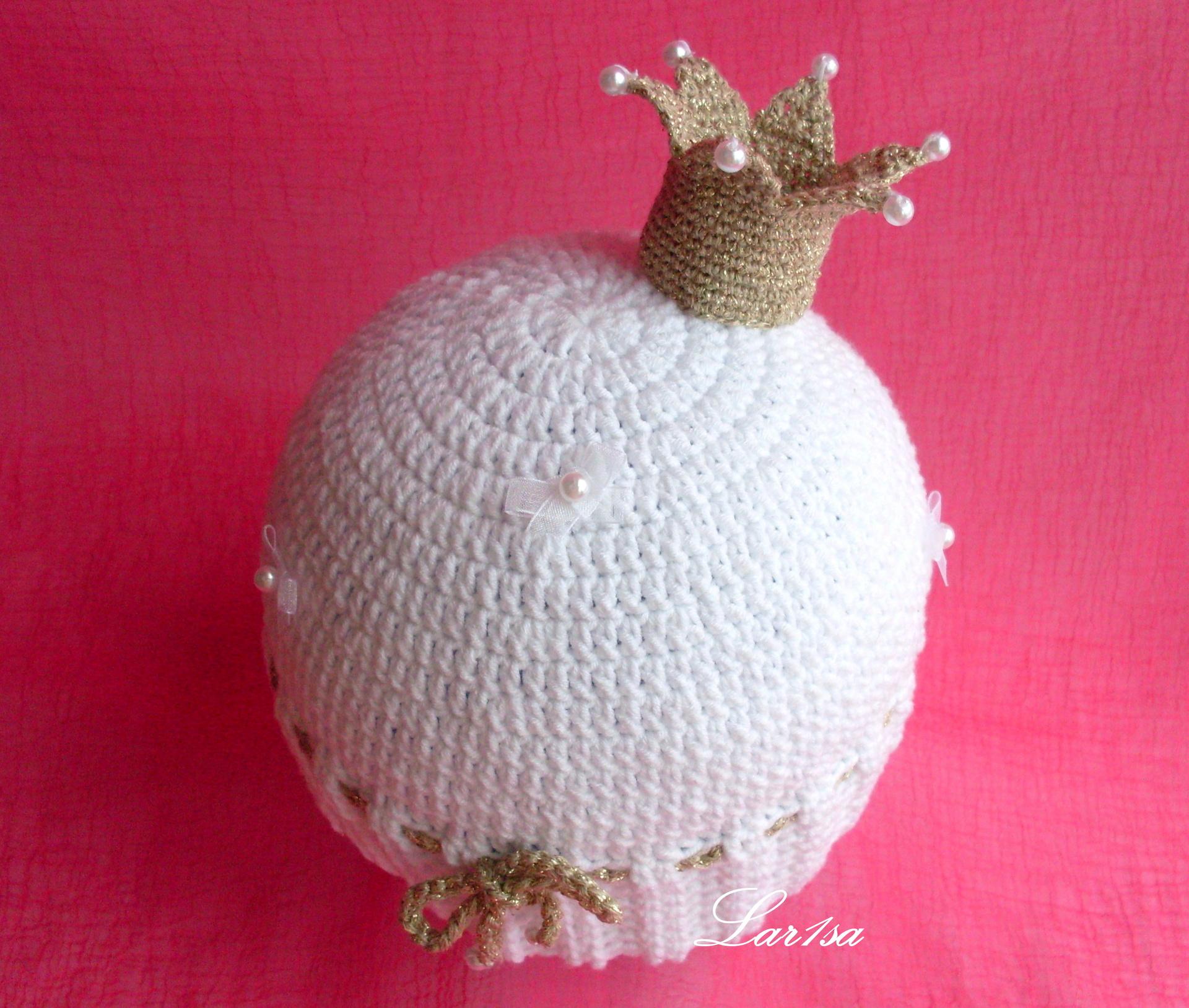 Вязание спицами алина вяжет шапочка с короной