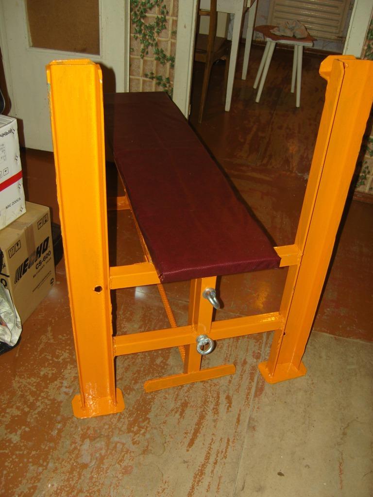 Деревянная скамья для жима своими руками 10
