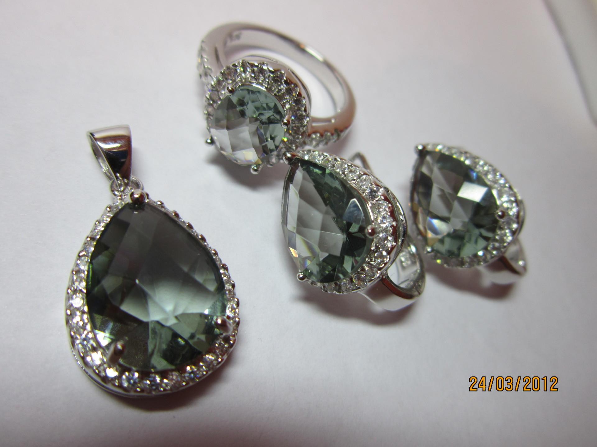 Украшения из камней в серебре фото