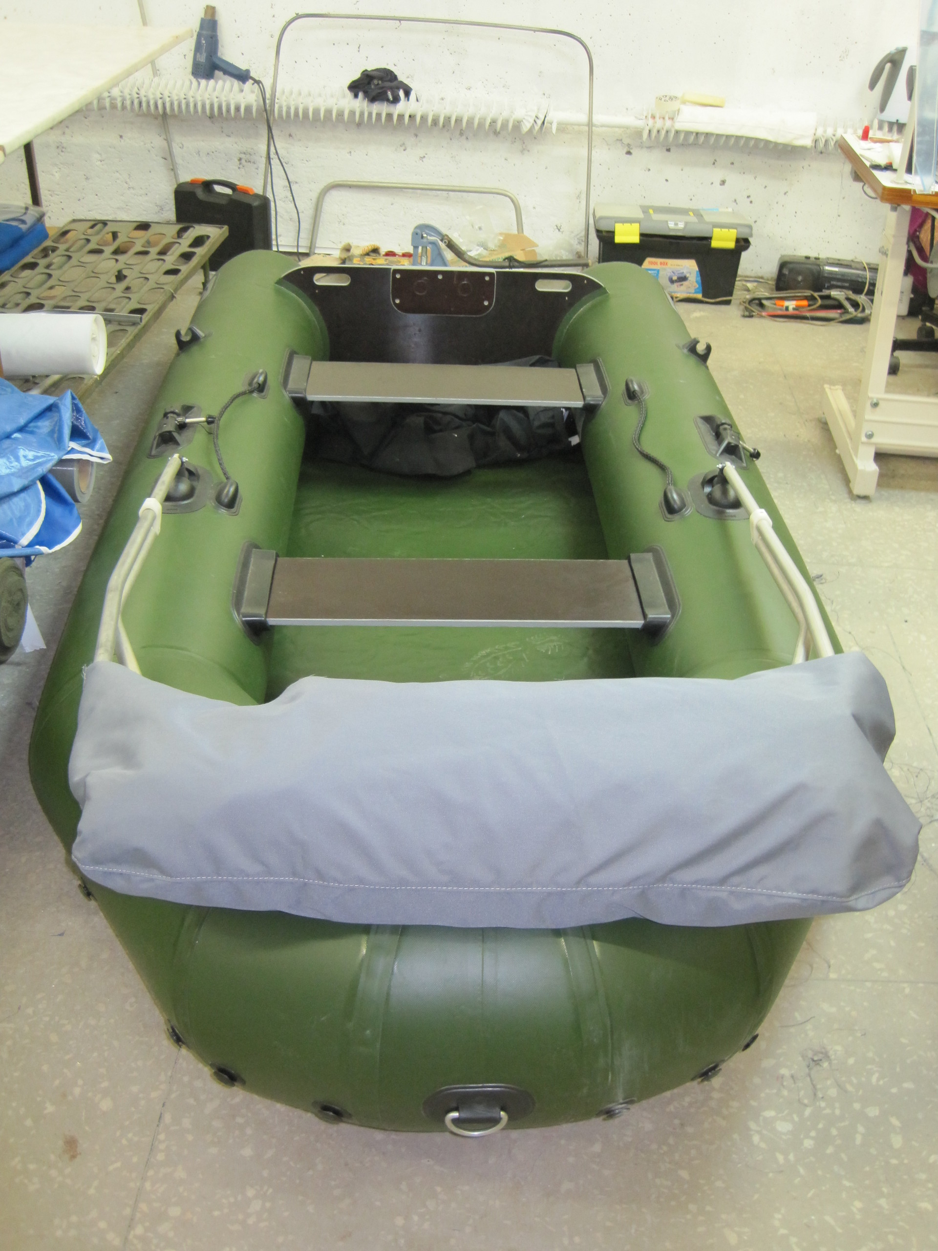 Самодельный тент для резиновой лодки