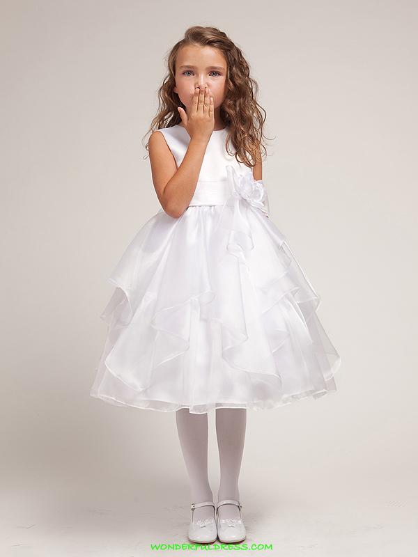Детские белые платья