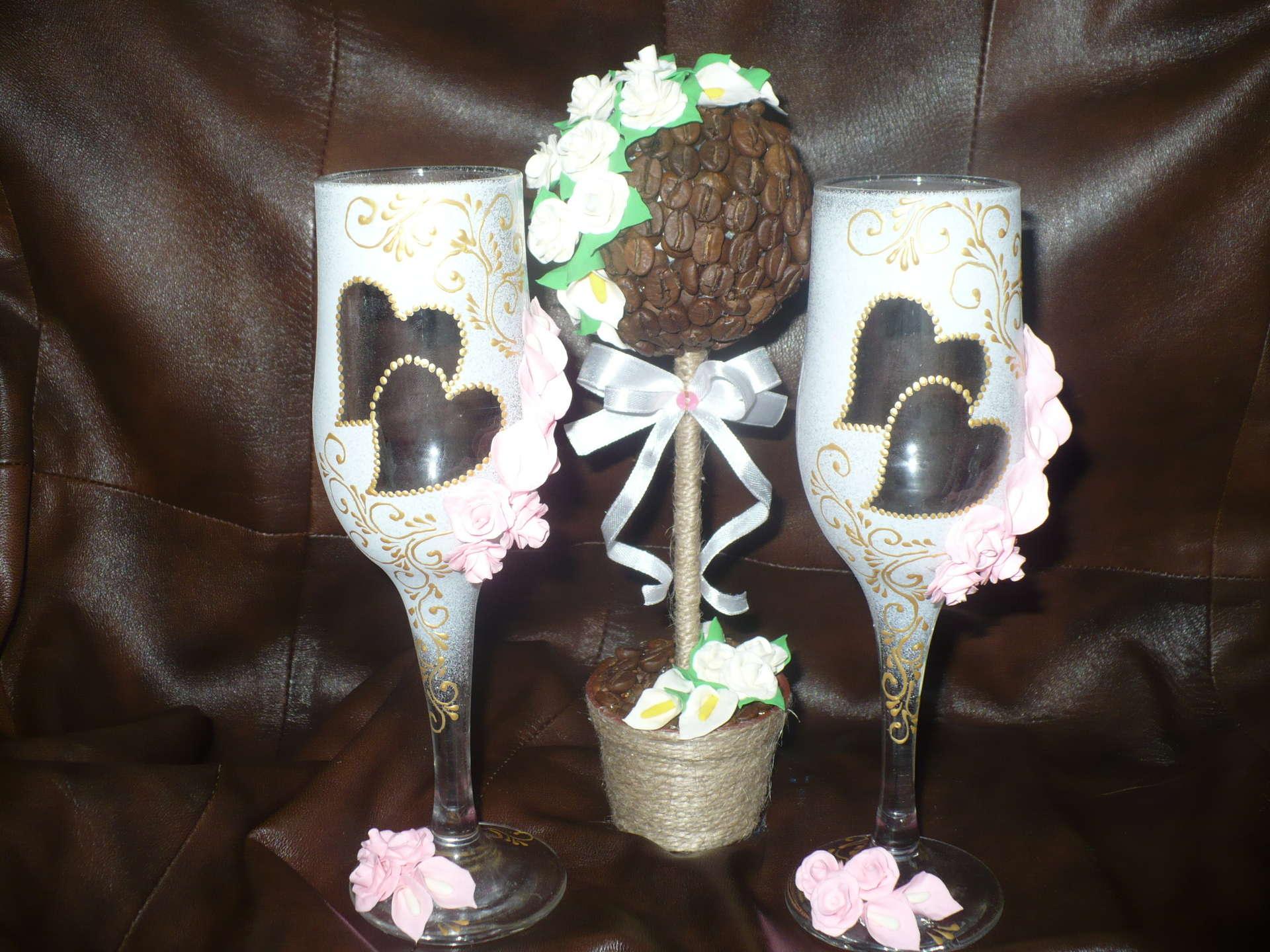 Подарки на свадьбу из кофейных зерен 196