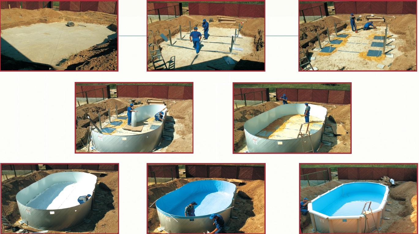 Бассейн для воды на даче своими руками 939