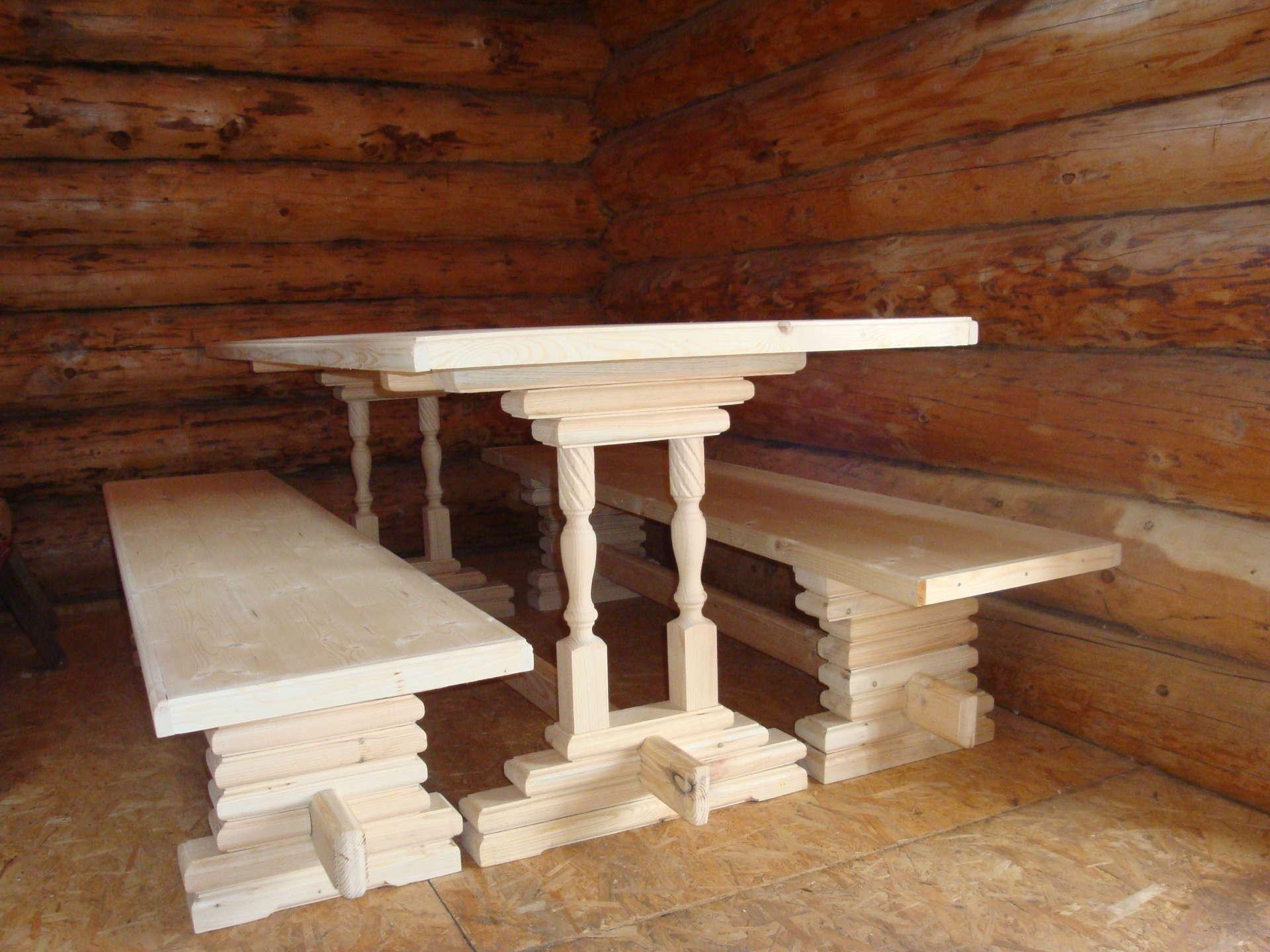 Столы для бани из дерева своими руками фото 55