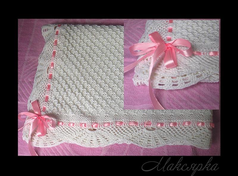 Вязание пледа для новорожденных 29