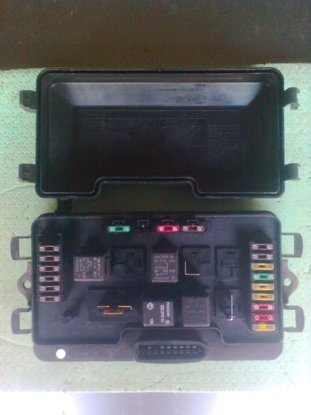 Предохранители ВАЗ 2115 (Монтажный блок)