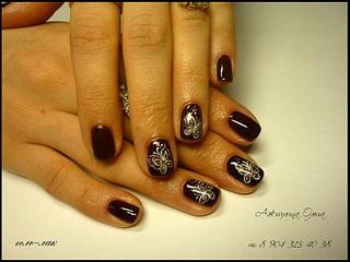 Покрытие ногтей гелем рисунки