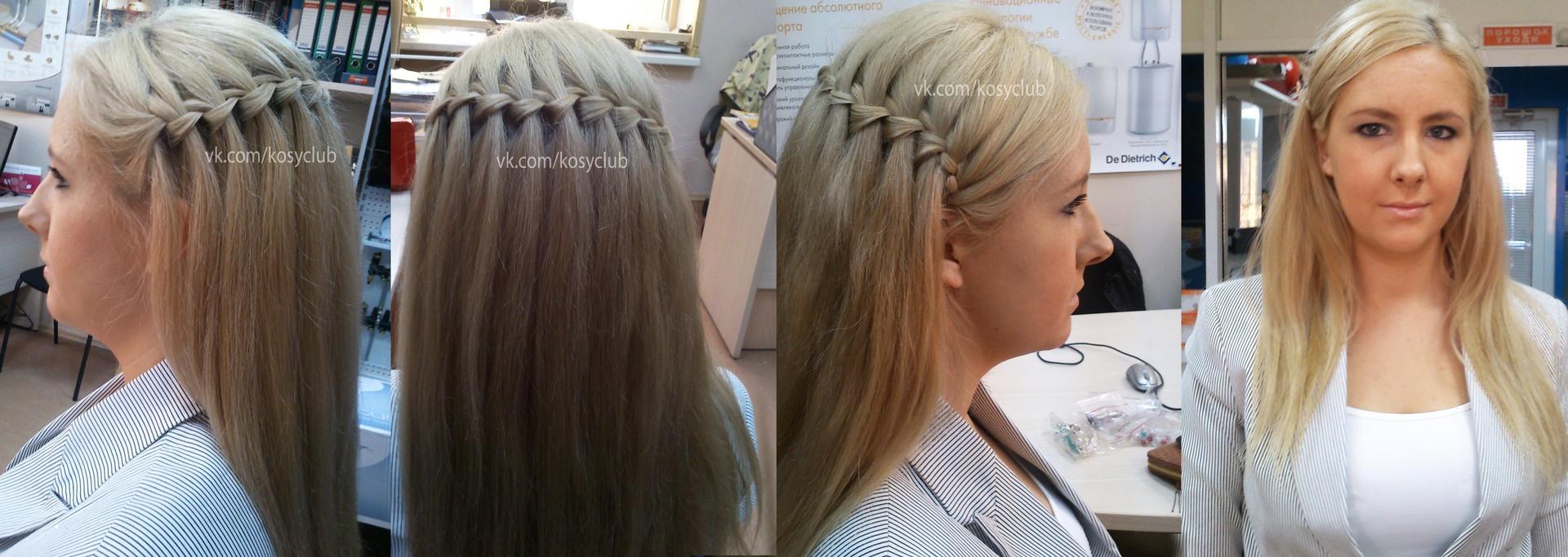 Причёски своими руками на волосы до плеч