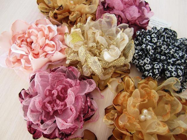 Цветы из органзы и шифона