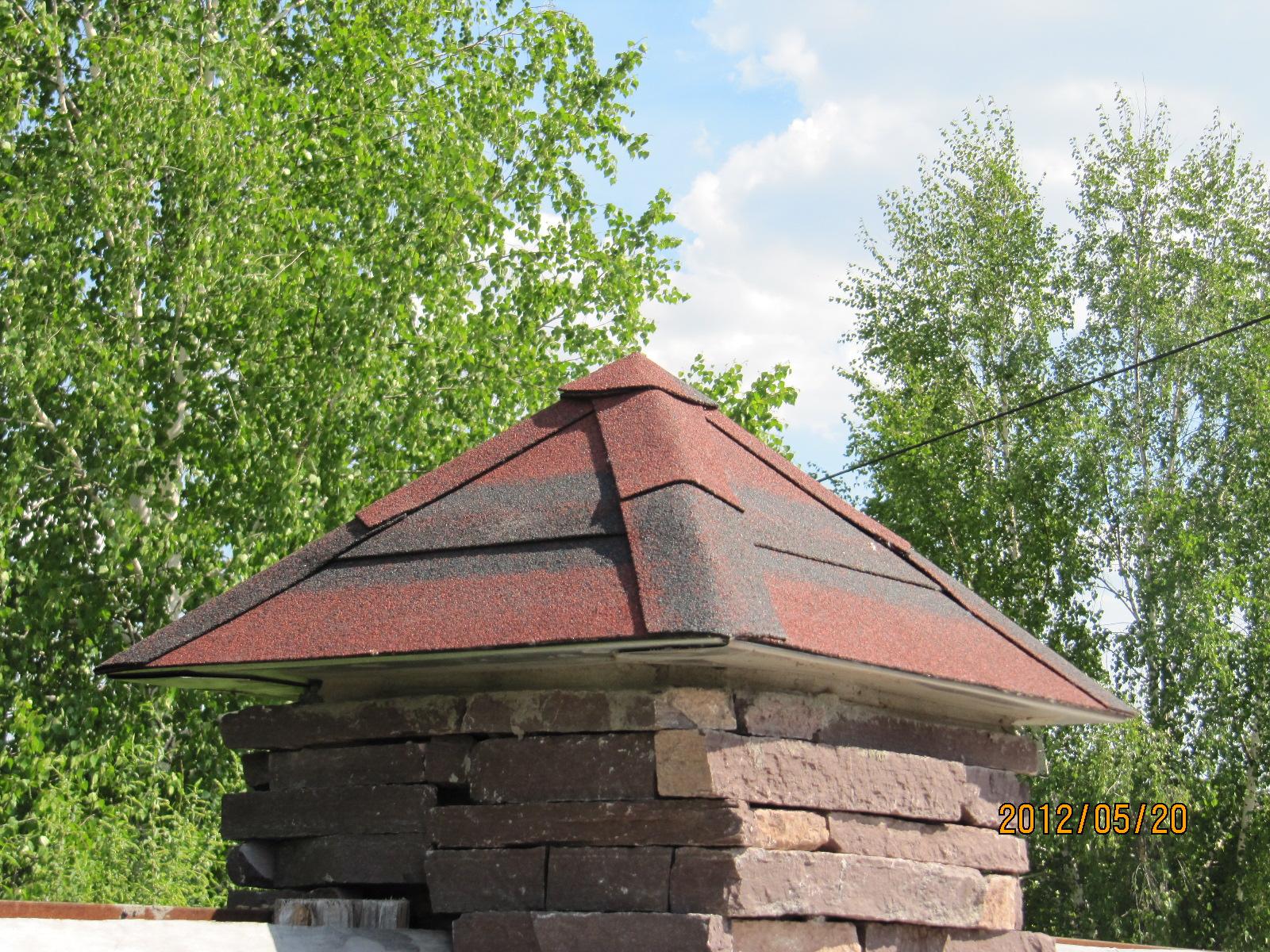на столб крыша своими руками